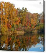 Lake Helene And Fall Foliage Acrylic Print