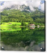 Lake Hintersee Acrylic Print by Yair Karelic