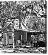 Lake House Black And White Acrylic Print