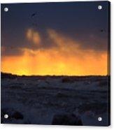 Lake Huron Arctic Blast 2 Acrylic Print