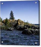 Lake Huron Shoreline Cedarville Michigan Acrylic Print