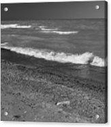 Lake Huron Windy Day 4 Bw Acrylic Print