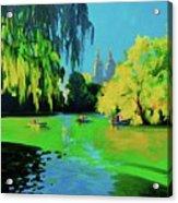 Lake In Central Park Ny Acrylic Print