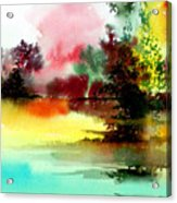 Lake In Colours Acrylic Print