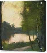 Lake In The Evening Acrylic Print