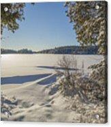 Lake In Winter Acrylic Print