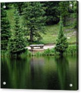 Lake Irene Dressed In Green Acrylic Print