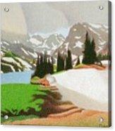 Lake Isabelle Storm Acrylic Print