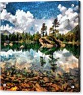 Lake Island View Acrylic Print