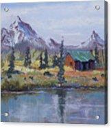 Lake Jenny Cabin Grand Tetons Acrylic Print