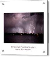 Lake Lightning 2 Poster Acrylic Print