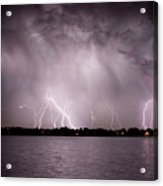 Lake Lightning Acrylic Print