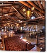 Lake Lodge Interior Yellowstone Acrylic Print