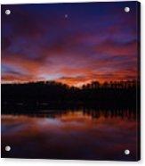 Lake Logan Sunset, Ohio Acrylic Print