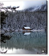 Lake Louise Boathouse Acrylic Print
