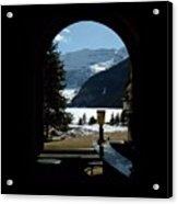 Lake Louise Inside View Acrylic Print