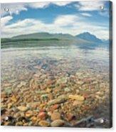 Lake Mcdonald In Glacier National Park At Sunset Acrylic Print
