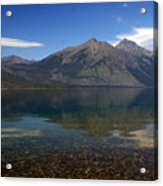 Lake Mcdonald Reflection Glacier National Park 2 Acrylic Print by Marty Koch
