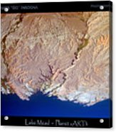 Lake Mead - Planet Art Acrylic Print