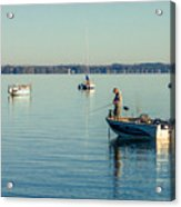 Lake Mendota Fishing Acrylic Print