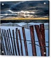 Lake Mi Sunset 15 Acrylic Print