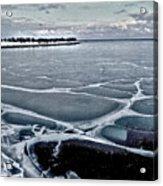Lake Michigan Frozen Acrylic Print