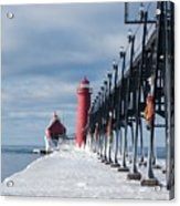 Lake Michigan Ice Acrylic Print