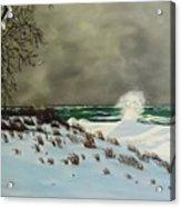 Lake Michigan In The Winter Acrylic Print