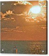 Lake Michigan Sunset. Acrylic Print