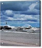 Lake Michigan With Big Wind  Acrylic Print