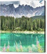 Lake Of Carezza - Italy Acrylic Print