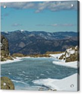 Lake Of Glass Winter Acrylic Print
