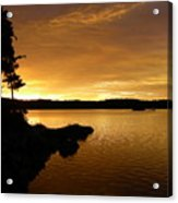 Lake Of Gold Acrylic Print