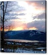 Lake Okanagan Sunset At Vernon Acrylic Print