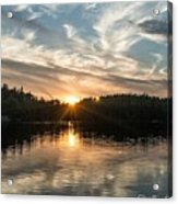 Lake Onaping Sunset Reflections Acrylic Print