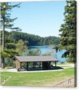 Lake Padden Picnic Shelter Acrylic Print