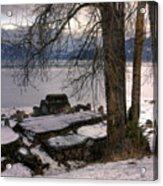 Lake Pend D'oreille At Humbird Ruins 1 Acrylic Print