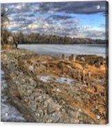 Lake Pend D'oreille At Humbird Ruins 2 Acrylic Print