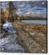 Lake Pend D'oreille At Humbird Ruins Acrylic Print