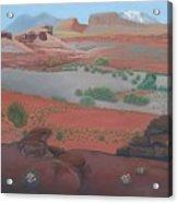 Lake Powell At Farley Canyon Acrylic Print