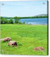 Lake Quanah Parker -  Wichita Mountains - Oklahoma Acrylic Print