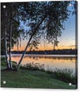 Lake Quannapowitt At Sunset Acrylic Print