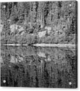 Lake Reflections In Black And White Acrylic Print
