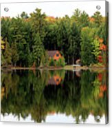 Lake Reflections Panorama 4370 4371 Acrylic Print