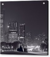 Lake Shore Drive Chicago B And W Acrylic Print