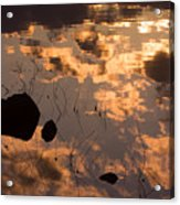 Lake Sunset Reflections Acrylic Print