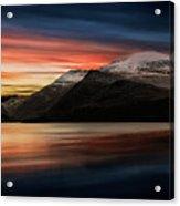 Lake Sunset Snowdonia Acrylic Print