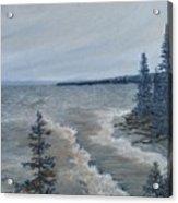 Lake Superior North Shore Waves  Acrylic Print