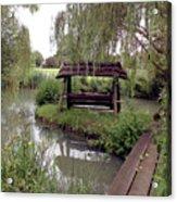 Lake Swing And Bridge Acrylic Print