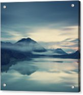 Lake Sylvenstein In The Evening Acrylic Print